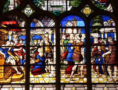 ile de france: Ile de France, the picturesque cathedral of Pontoise