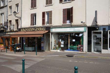 val: Ile de France, the picturesque city of Pontoise Editorial