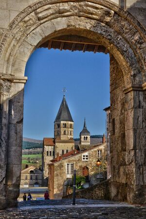 bourgogne: France, the picturesque abbey of Cluny in Saone et Loire Editorial