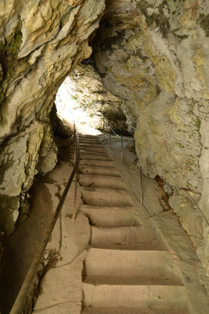 Slovenia, the picturesque and historical castle of Predjama
