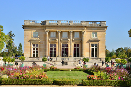 petit: Ile de France, the Petit Trianon in the parc of Versailles Palace Editorial