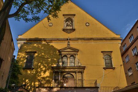 the balkan: Croatia, the picturesque Saint Mary church of Zagreb in Balkan Stock Photo