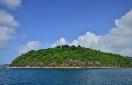 lucia: the picturesque east coast of the island of Saint Lucia in caribbean Stock Photo