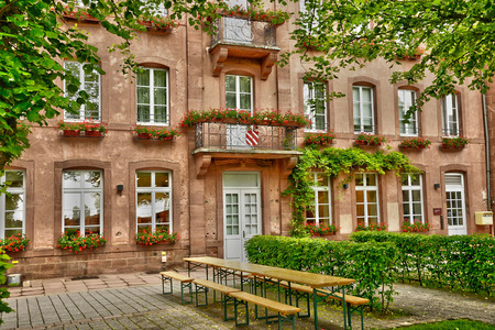 bas: France, the picturesque Mont Sainte Odile in Bas Rhin