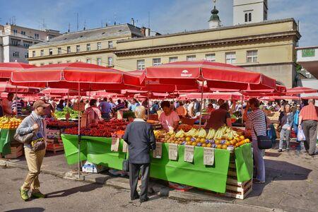 custumer: Croatia, the picturesque market of Zagreb in Balkan