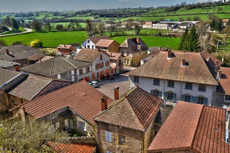 loire: France, the picturesque village of Chateauneuf in Saone et Loire
