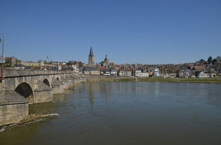 bourgogne: France, the picturesque city of La Charite sur Loire in Bourgogne