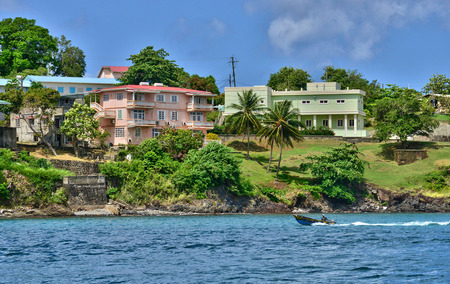 saint: the picturesque city of Castries in Saint Lucia in caribbean