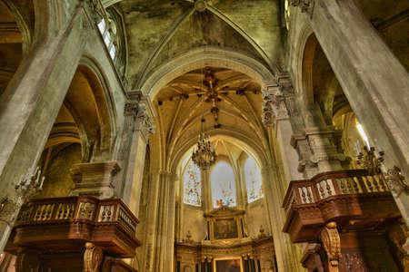 pontoise: Ile de France, the picturesque cathedral of Pontoise