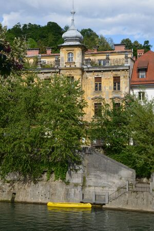 picturesque: Slovenia, picturesque and historical city of Ljubljana
