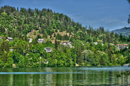 bled: Slovenia, the picturesque lake of Bled in Balkan