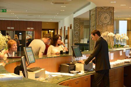 balkan: Croatia, the reception of an hotel in Cavtat in Balkan Editorial