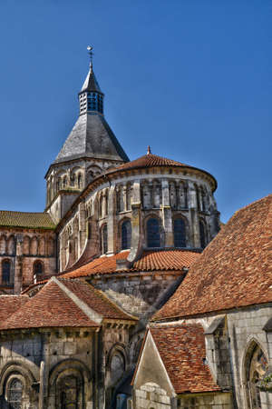 France, the picturesque Notre Dame church of La Charite sur Loire in Bourgogne
