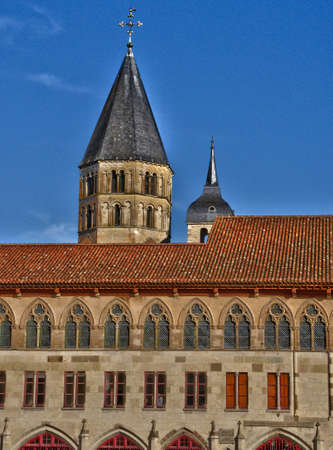 et: France, the picturesque abbey of Cluny in Saone et Loire Stock Photo
