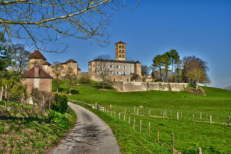 priory: France, the picturesque priory of Anzy le duc in Saone et Loire
