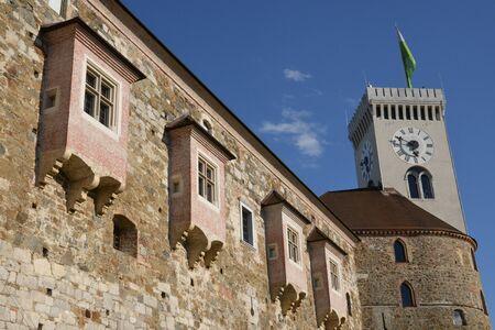 ljubljana: Slovenia, the picturesque and historical castle of Ljubljana Editorial