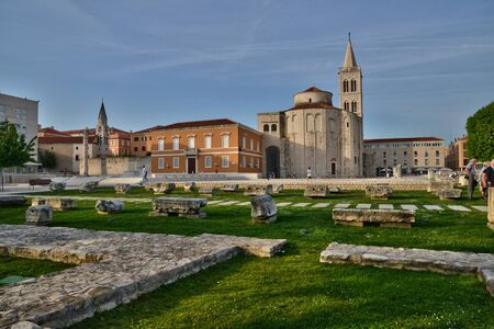 picturesque: Croatia, the picturesque forum of Zadar in Balkan