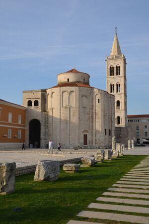 the balkan: Croatia, the picturesque forum of Zadar in Balkan