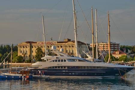 balkan: Croatia, the picturesque city of Zadar in Balkan Editorial