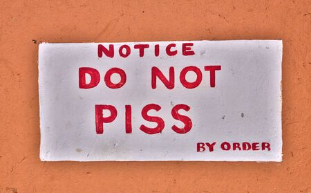 piss: toilet in the city of Castries in Saint Lucia in caribbean Stock Photo