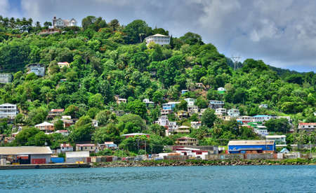 saint lucia: the picturesque city of Castries in Saint Lucia in caribbean