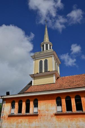 indies: Martinique, the picturesque church of Les Les trois Ilets