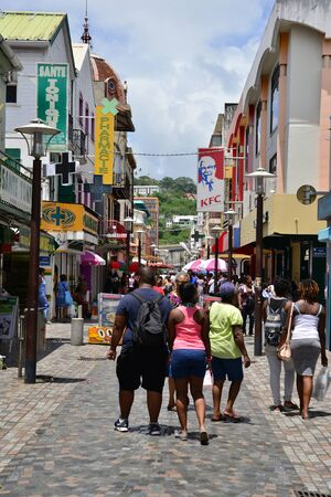 indies: Martinique, august 31 2015 shop in the picturesque city of Fort de France