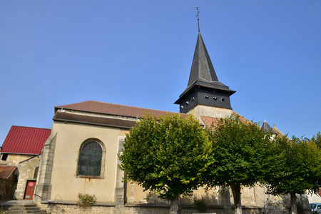 picturesque: Haute Normandie, the picturesque church of Gasny