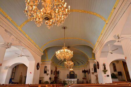martinique: Martinique, the picturesque church of Les Les trois Ilets