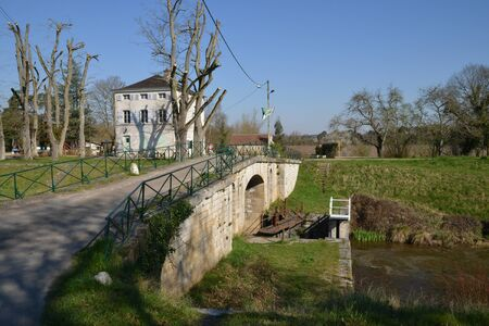 loire: France, the watergate of Chatillon sur Loire