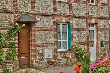les: France, the picturesque city of Veules les Roses in Seine Maritime Editorial