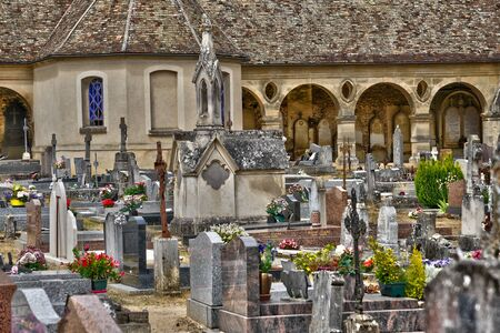 ile de france: Ile de France, the picturesque cemetery of Montfort l Amaury