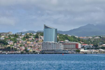 Martinique, coast of the picturesque city of Fort de France