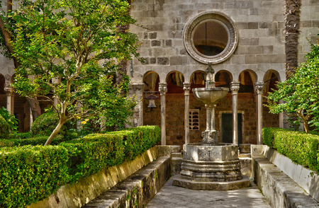 franciscan: Croatia, the old and picturesque franciscan monastery of Dubrovnik Stock Photo