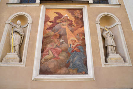 ljubljana: Slovenia, the picturesque and historical cathedral of Ljubljana