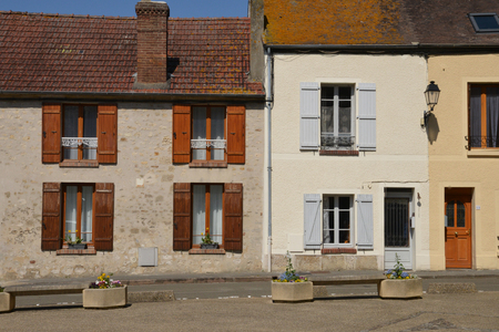 ile de france: Ile de France, the picturesque village of Chars Stock Photo