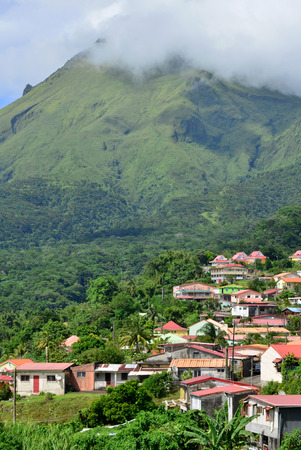 martinique: Martinique, the picturesque city of Morne Rouge; in West Indies