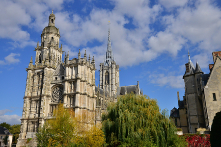 picturesque: Haute Normandie, the picturesque cathedral of Evreux Stock Photo