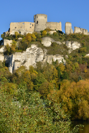 France, the picturesque castle of Chateau Gaillard of Les Andelys