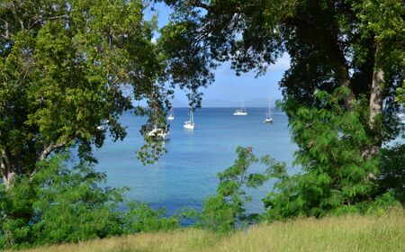 anne: Martinique, the picturesque city of Sainte Anne in West Indies