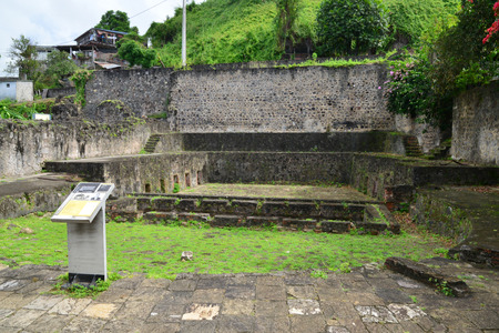 pierre: Martinique, the ruin of Saint Pierre theatre in West Indies