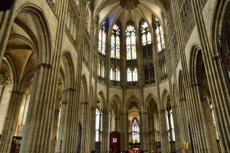 picturesque: Haute Normandie, the picturesque cathedral of Evreux Editorial