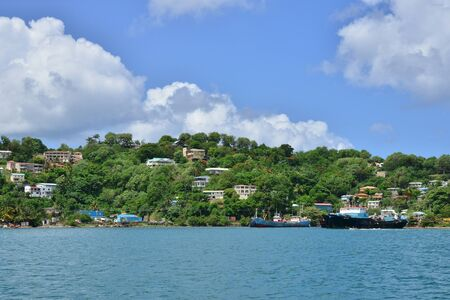 lucia: the picturesque city of Castries in Saint Lucia in caribbean
