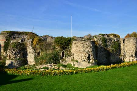 ile de france: Ile de France, the picturesque castle of Beynes Editorial