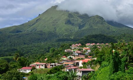 Martinique, the picturesque city of Morne Rouge; in West Indies