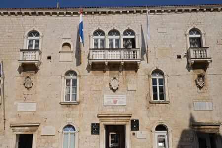 picturesque: Croatia, the old and picturesque picturesque city hall of Trogir