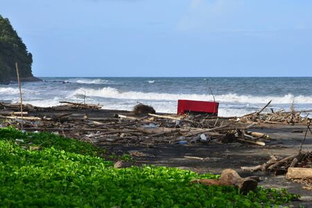 marie: Martinique, the polluted seaside of Sainte Marie after flood
