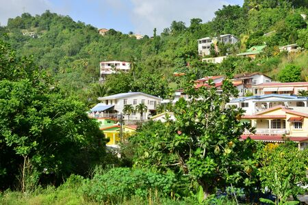 indies: Martinique, the picturesque city of Riviere Pilote in West Indies Stock Photo