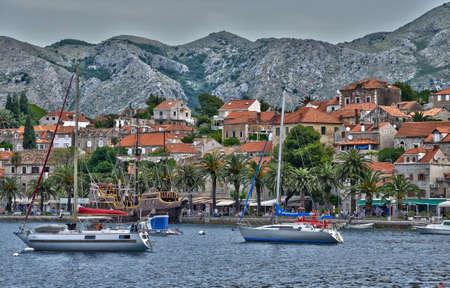 the balkan: Croatia, the picturesque village of Cavtat in Balkan Editorial