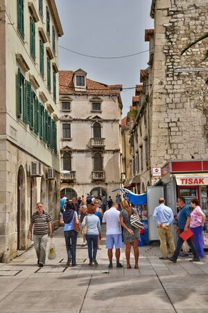 picturesque: Croatia; the picturesque and historical city of Split in Balkan